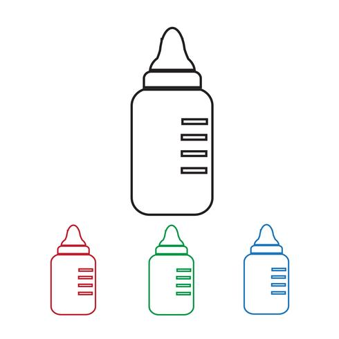 baby mjölkflaska ikon vektor