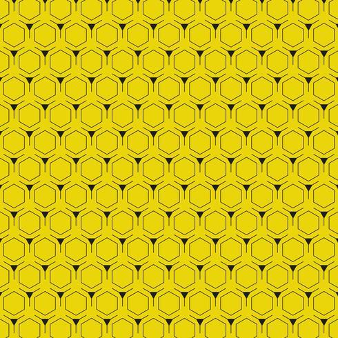 Abstrakter gelber Hintergrund mit modernem Design des Hexagonmusters. Abbildung Vektor eps10