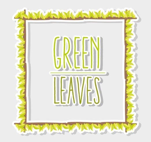 Grün lässt Rahmen vektor