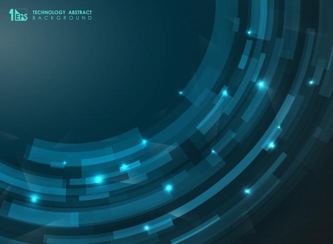 Abstrakta blått futuristiska linjer för randig kurva. Teknikpresentation av konst. Kan användas för broschyr, banner, broschyr, tapet, årsrapport. vektor