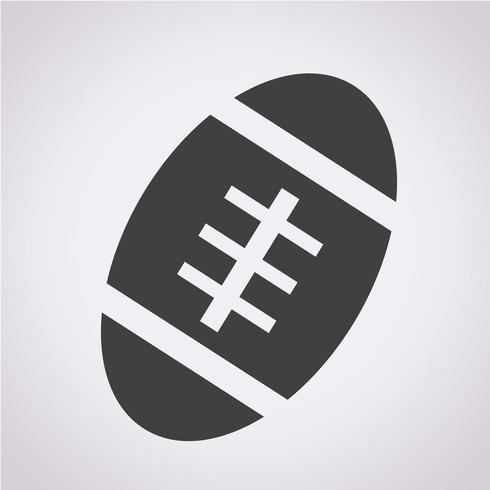 Amerikansk fotbollbollikonen vektor