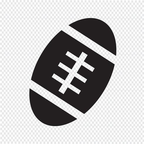 American Football-Ball-Symbol vektor