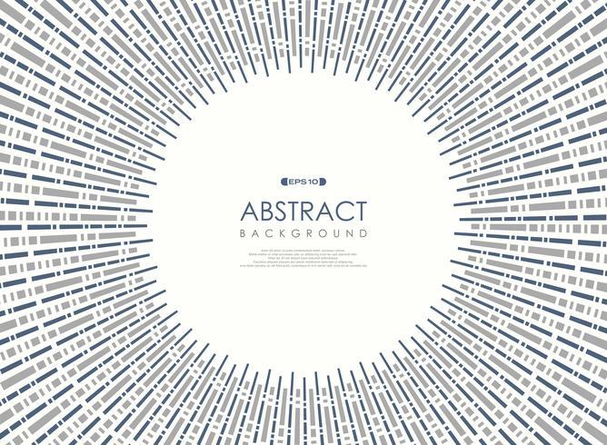 Abstrakt geometrisk cirkelbakgrund för blå grå randlinje. vektor
