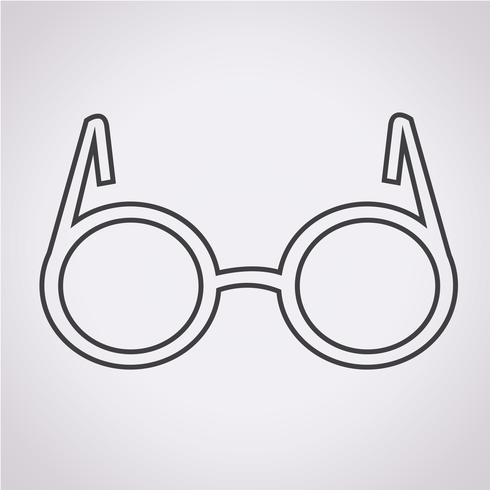 Glasögon ikon symbol tecken vektor