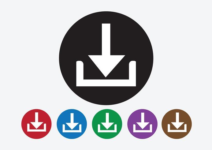 Ladda ner ikonen och ladda upp symbolknappen vektor
