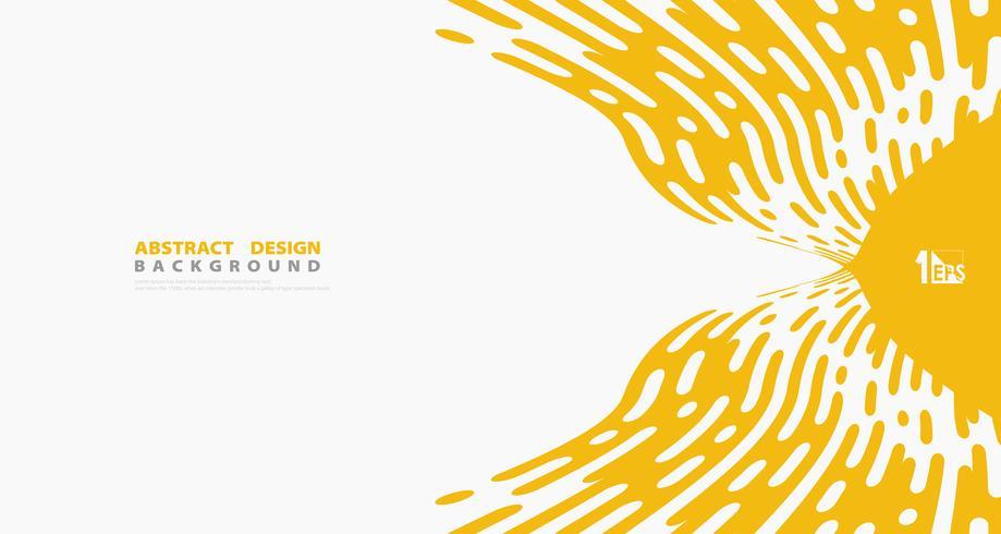 Abstrakt bakgrund för design för design för design för konst för dekorationer för gul randig linje. illustration vektor eps10