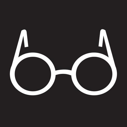 Brille Symbol Symbol Zeichen vektor
