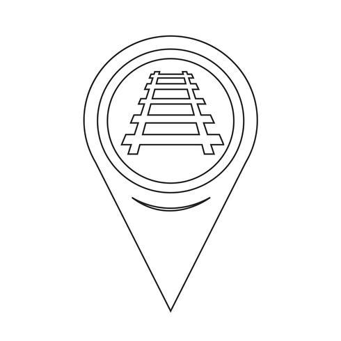 Kartensymbol Zeiger Eisenbahnlinie vektor