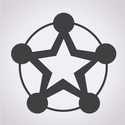 Nätverksikonsymboltecken vektor
