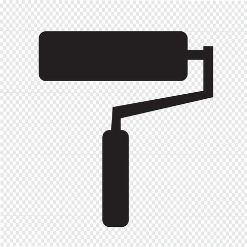 Farbroller-Symbol vektor