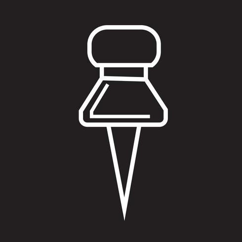 Pin-Symbol drücken vektor
