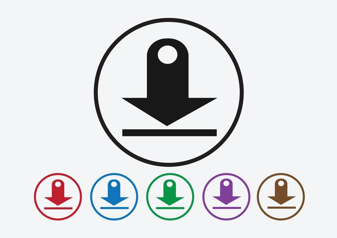 Download-Symbol und Upload-Symbol vektor