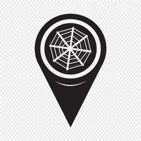 Map Pointer Web net-Symbol vektor