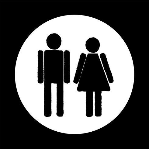 man och dam People-ikon vektor