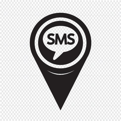 Kartenzeiger SMS-Symbol vektor