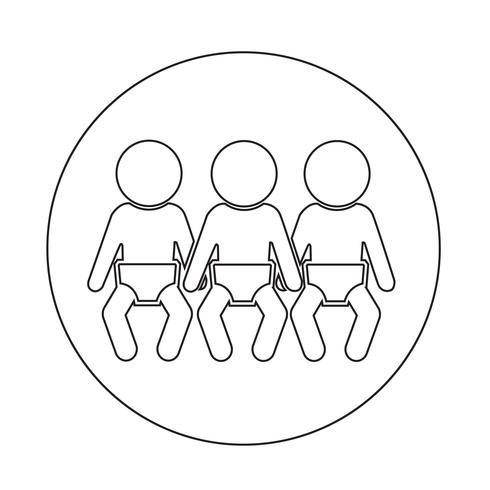 Baby-Icon-Netzwerk vektor