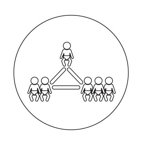 Baby ikon nätverk vektor