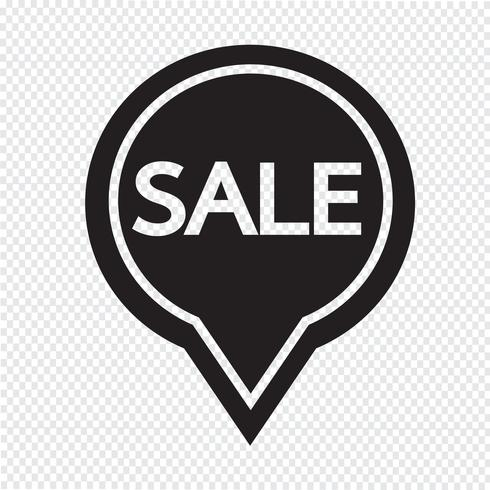 SALE ikon symbol tecken vektor