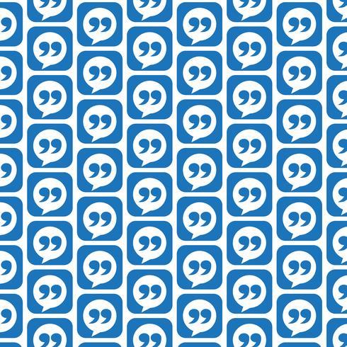 Musterhintergrund Blockquote-Zeichensymbol vektor