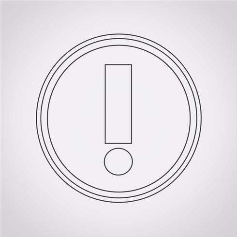 Symbol för varningsikon vektor