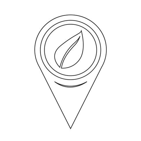 karta pekaren blad ikon vektor