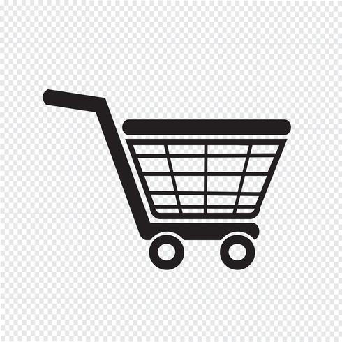 Shopping ikon symbol tecken vektor
