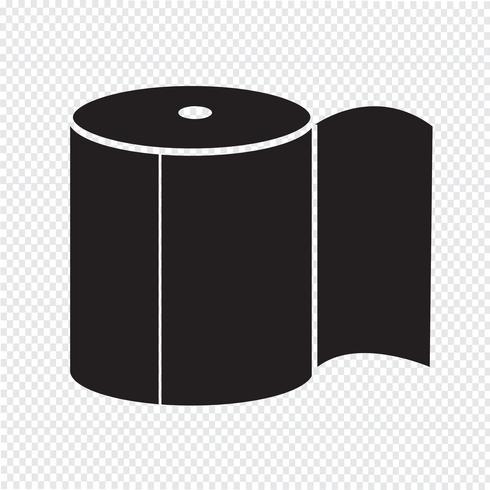 Toalettpapper Ikon vektor
