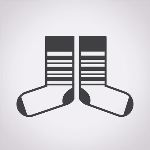 Sock ikon symbol tecken vektor