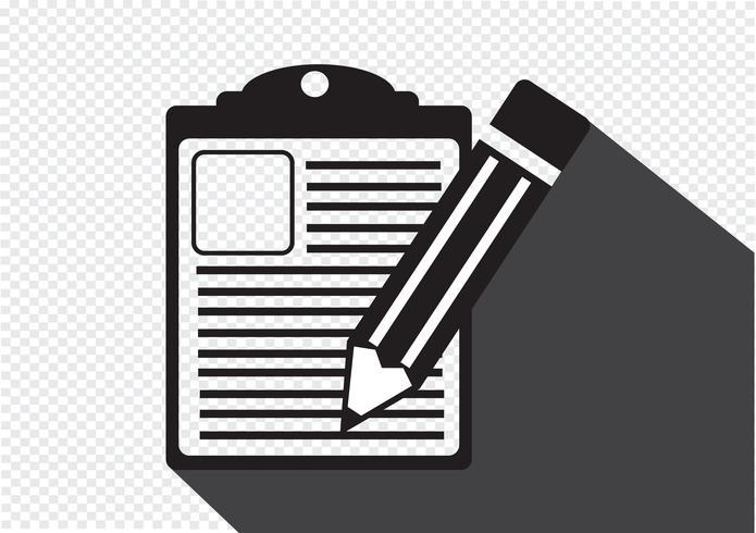 Checklisten-Symbol Symbol Zeichen vektor