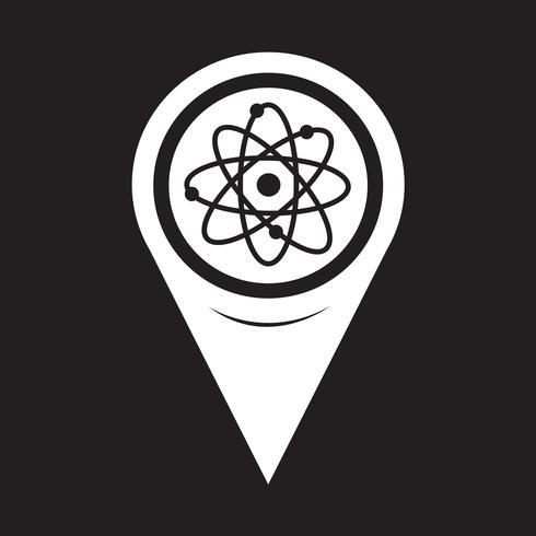 Kartenzeiger-Atom-Symbol vektor