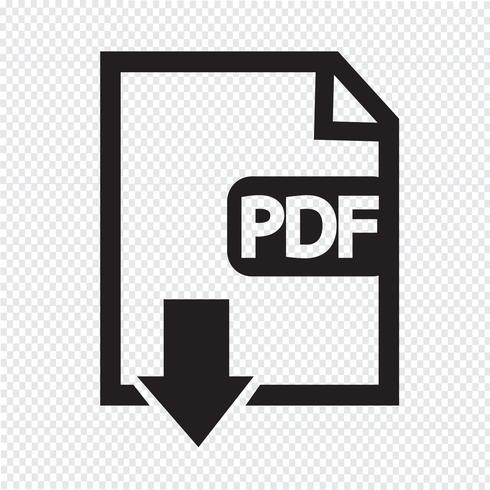 PDF-Symbol Symbol Zeichen vektor