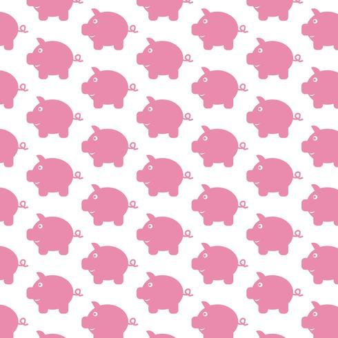 Sparschwein Muster Hintergrund vektor