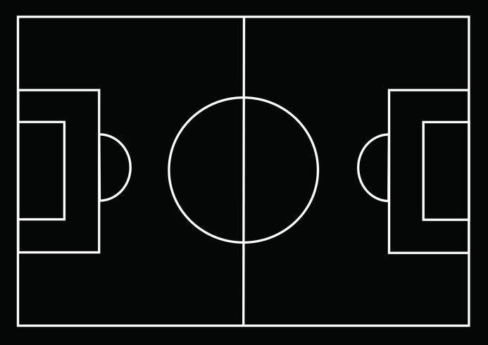Fotbollsplan eller fotbollsgräsplan vektor