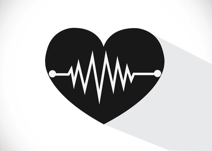 Herz-Wellen-Symbole vektor