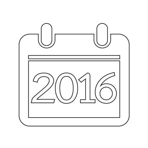 Kalender für 2016 vektor
