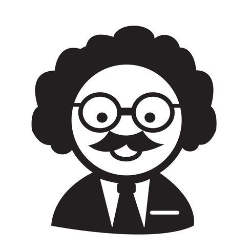 Wissenschaftler oder Professor-Symbol vektor