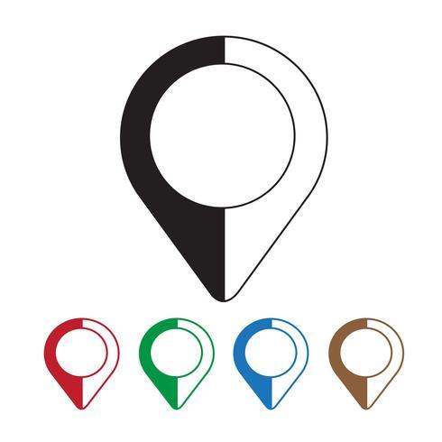 kartläggning stift ikon vektor