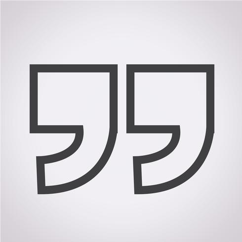 Anführungszeichen-Symbol vektor