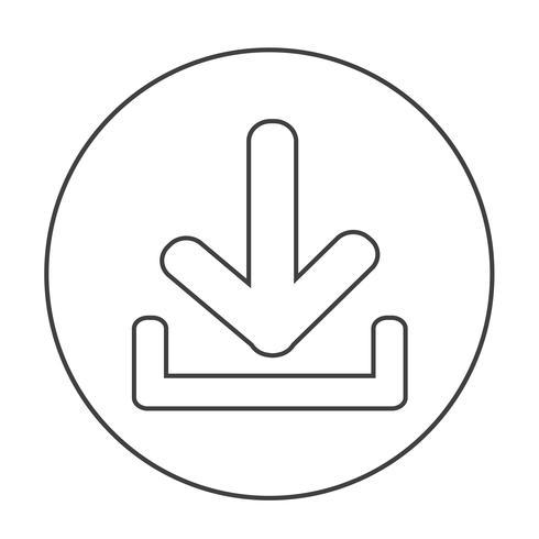 Hämta ikonen Ladda upp knappen vektor