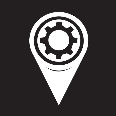 Karta Pointer Gear Icon vektor