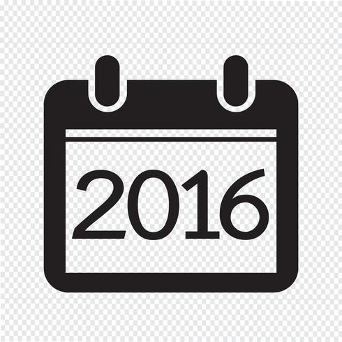 Kalender för 2016 vektor