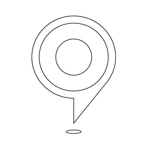 målbubbelsymbol vektor