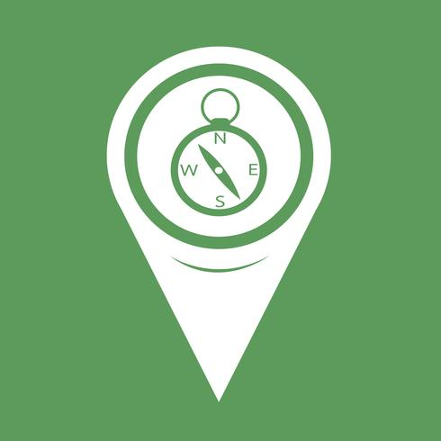 Kartenzeiger-Kompass-Symbol vektor