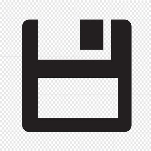 Diskettensymbol vektor