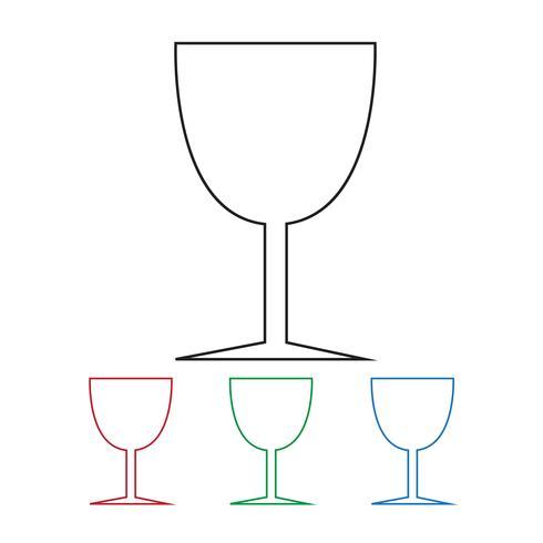 Glasdryck Ikon vektor