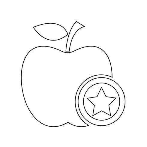 apple icon symbol tecken vektor