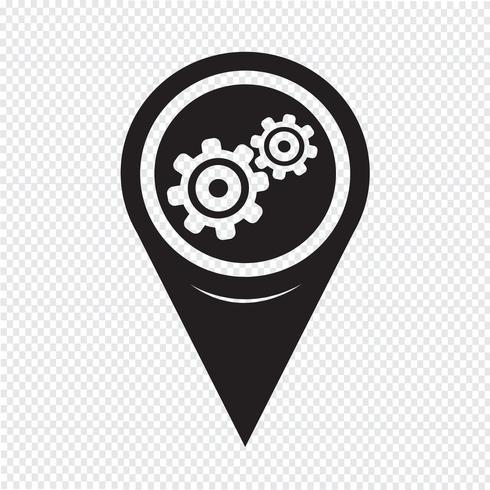 ikon för kartpekare vektor