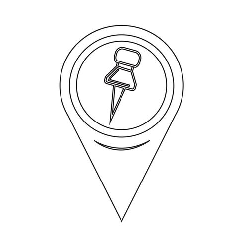 Kartpekaren ikon vektor