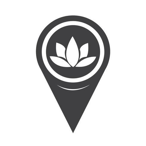 Kartpekare Lotus ikon vektor