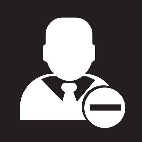 Affärsman ikon symbol tecken vektor